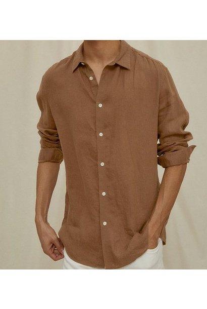 Ruben linnen shirt Brown 1200