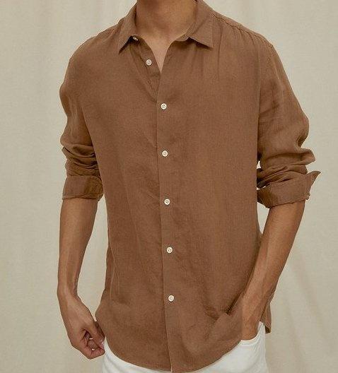 Ruben linnen shirt Brown 1200-1