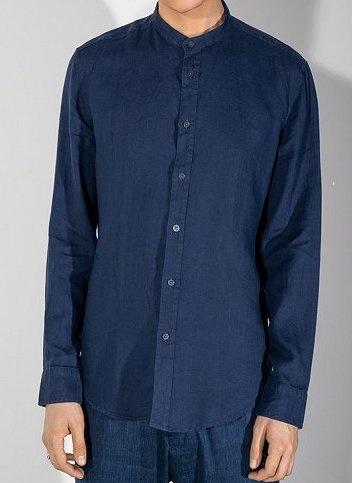 Tarok linnen shirt navy 3200-1