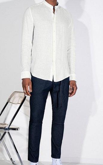 Tarok linnen shirt white 6000-3