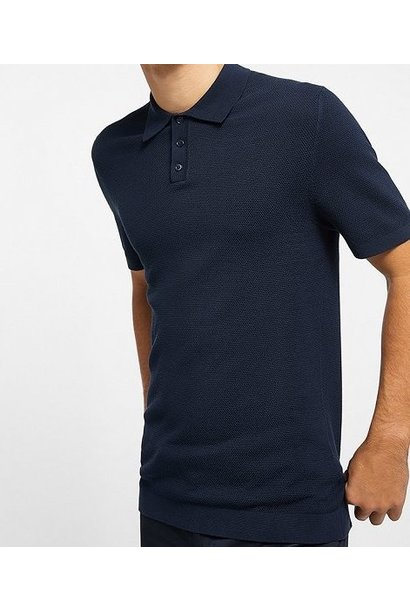 Triton knitted polo navy 3100