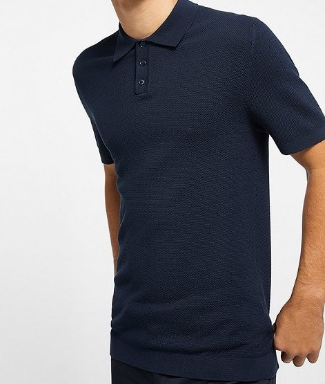 Triton knitted polo navy 3100-1