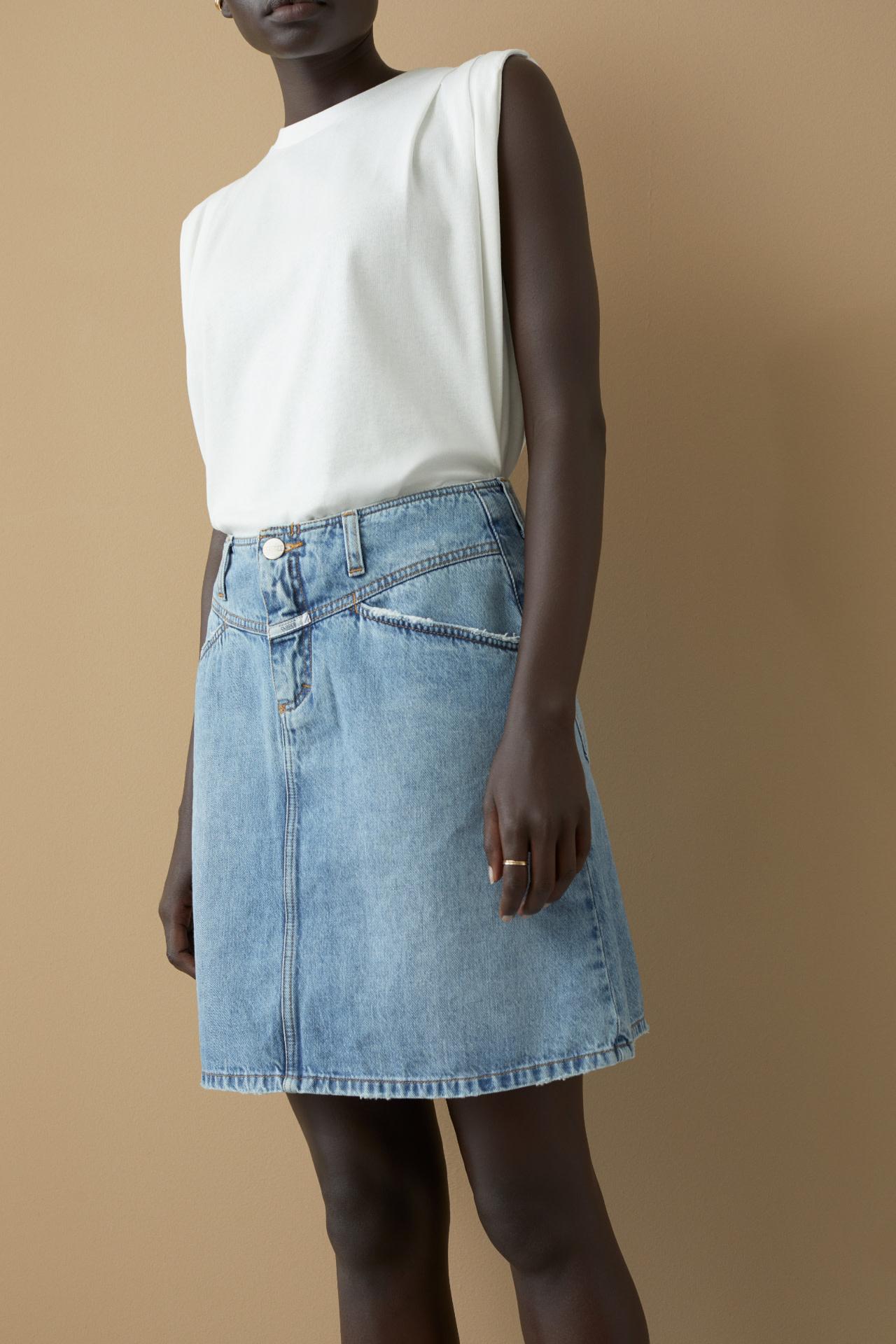 Denim MBL Skirt-1