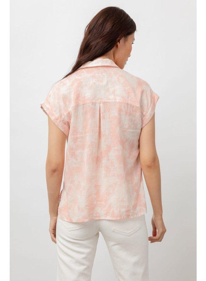 whitney peach pink tie