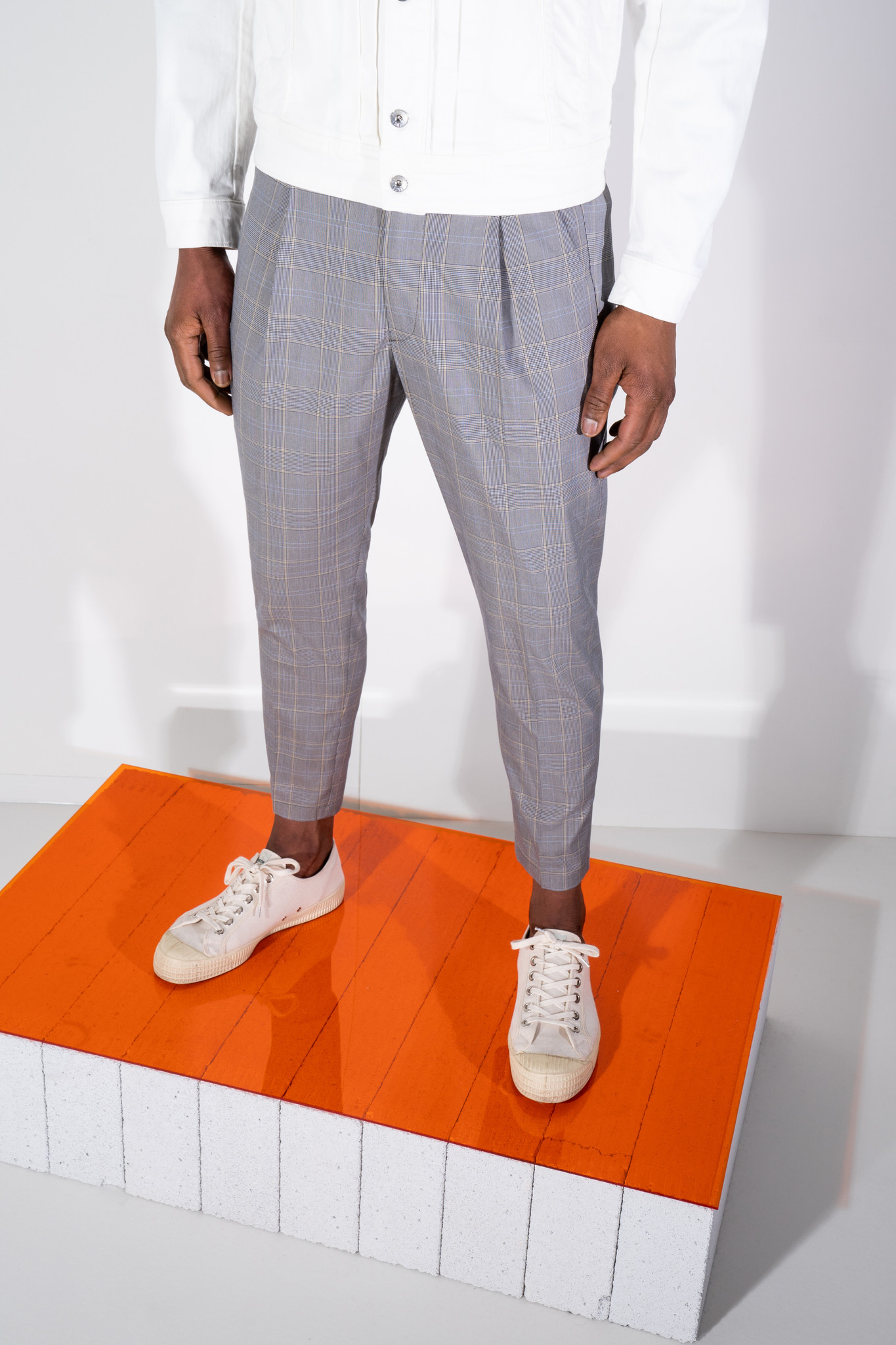 Chasy check pants-1