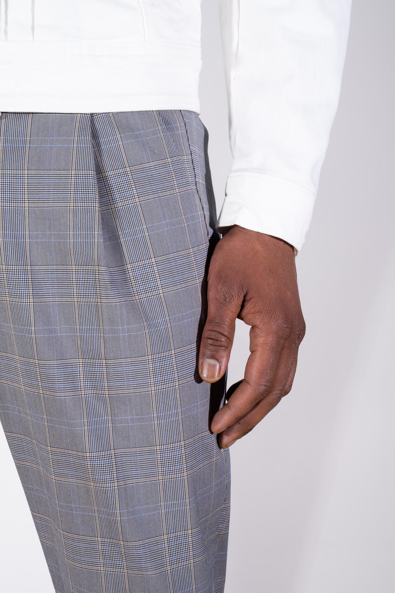 Chasy check pants-2
