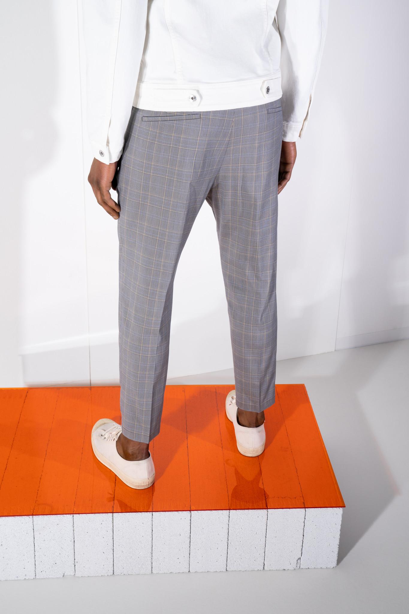 Chasy check pants-4