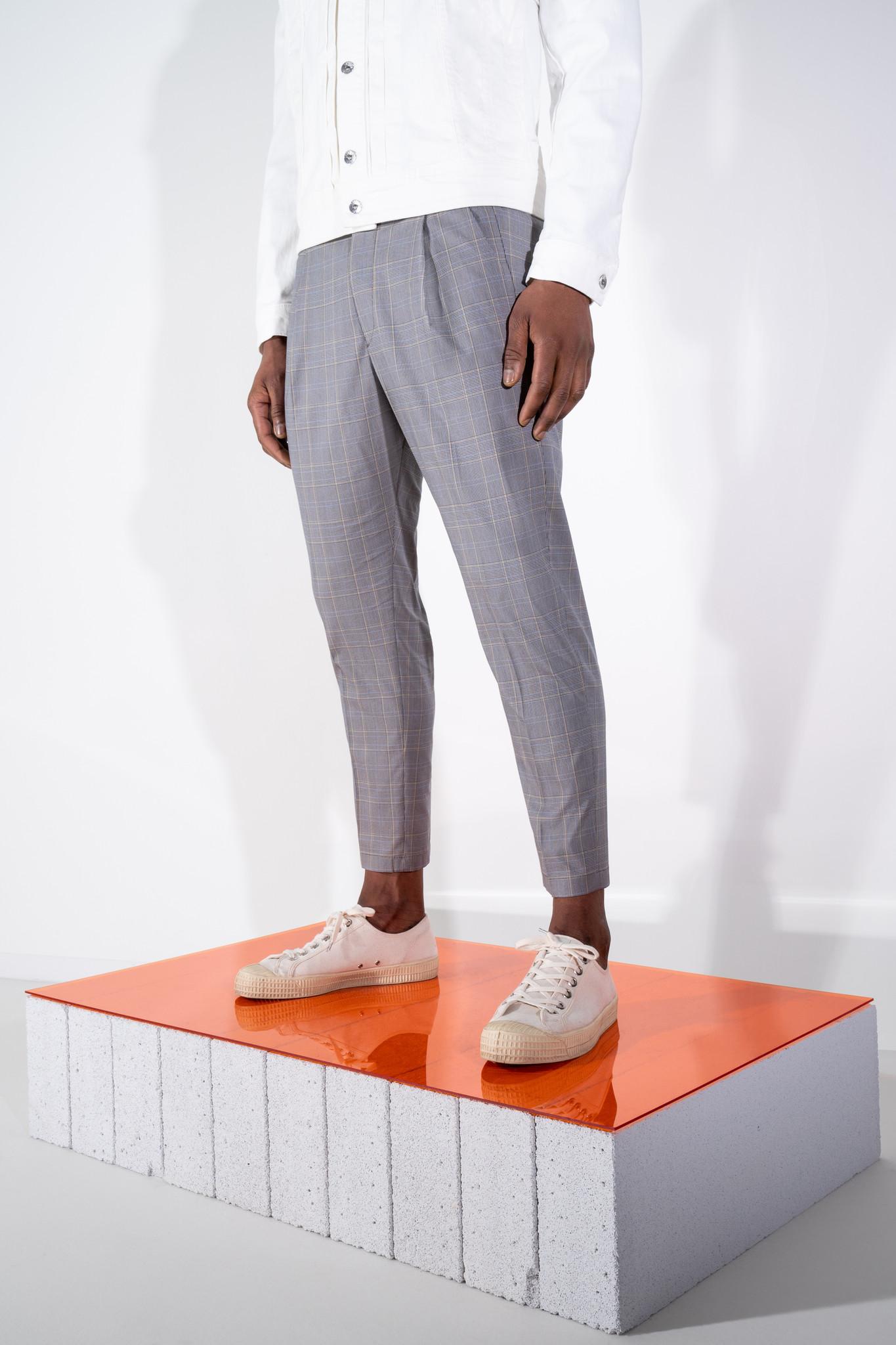 Chasy check pants-5