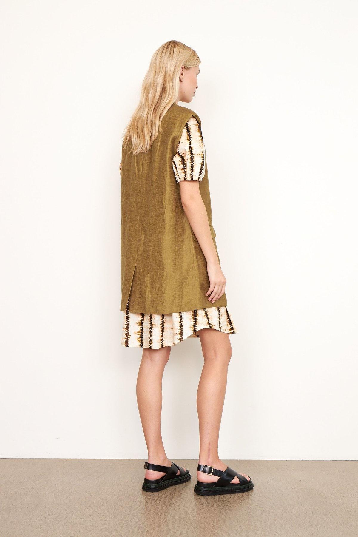 Lia Waistcoat bronze Brown-3