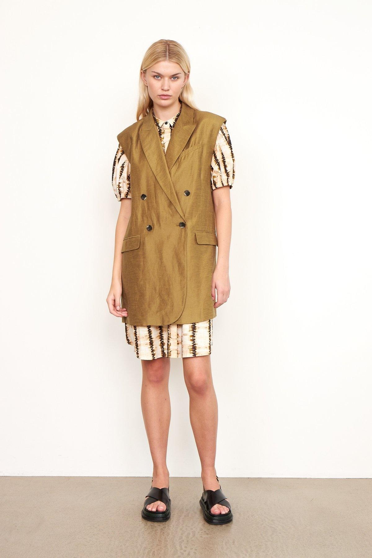 Lia Waistcoat bronze Brown-4