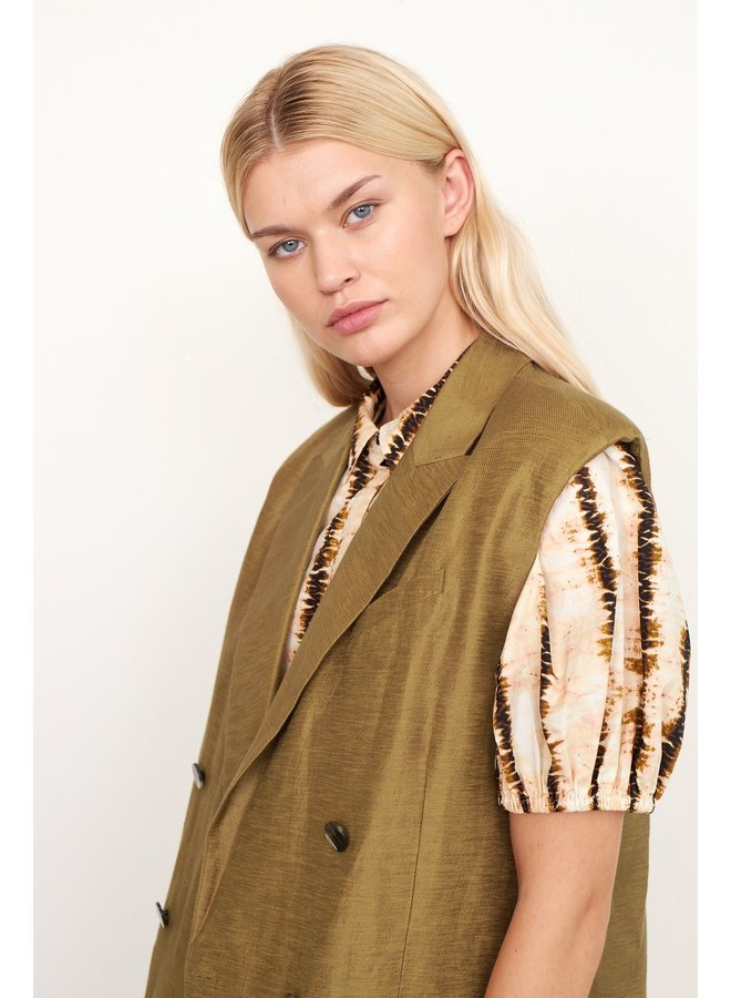Lia Waistcoat bronze Brown