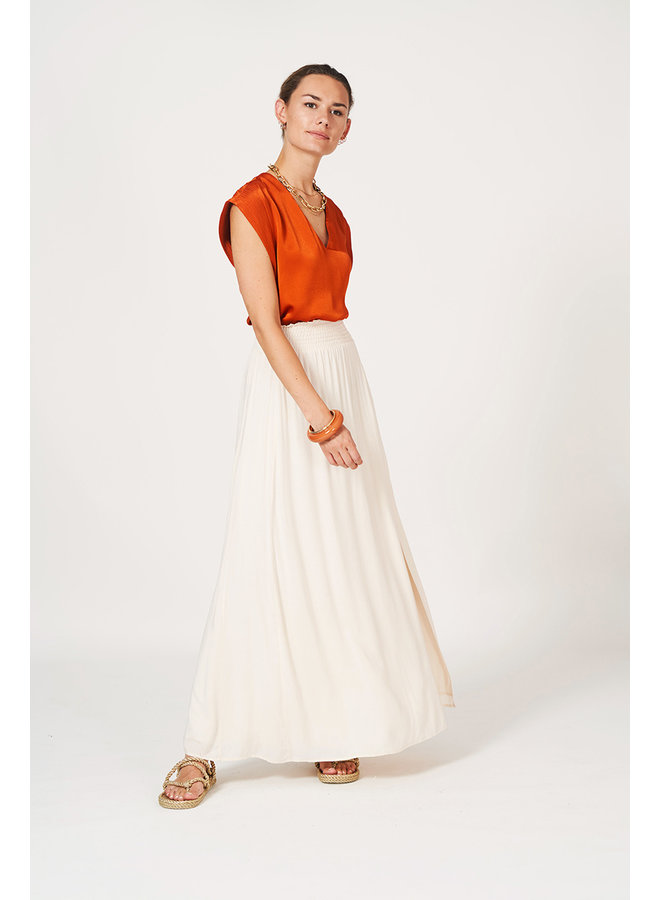 Mahina  long Skirt Butter Cream