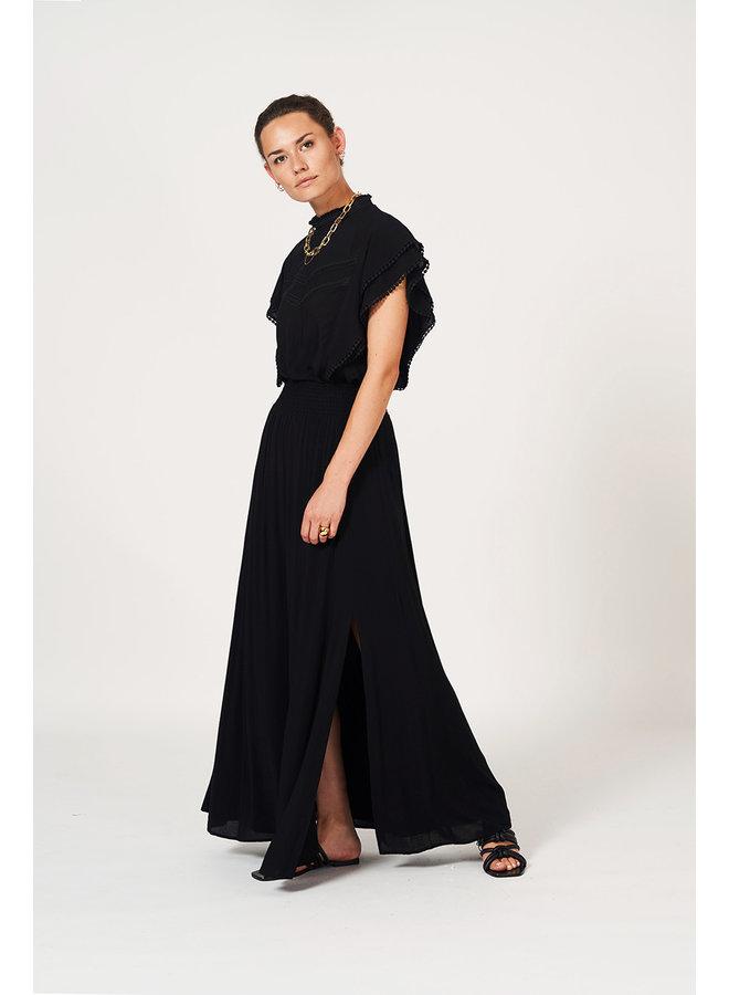 Mahina  long Skirt Black