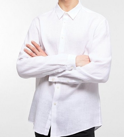 Ruben linnen shirt White 6000-1