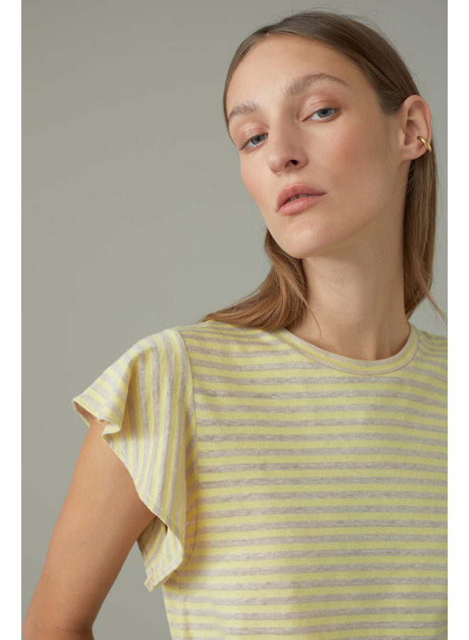 Striped Tee strong mustard