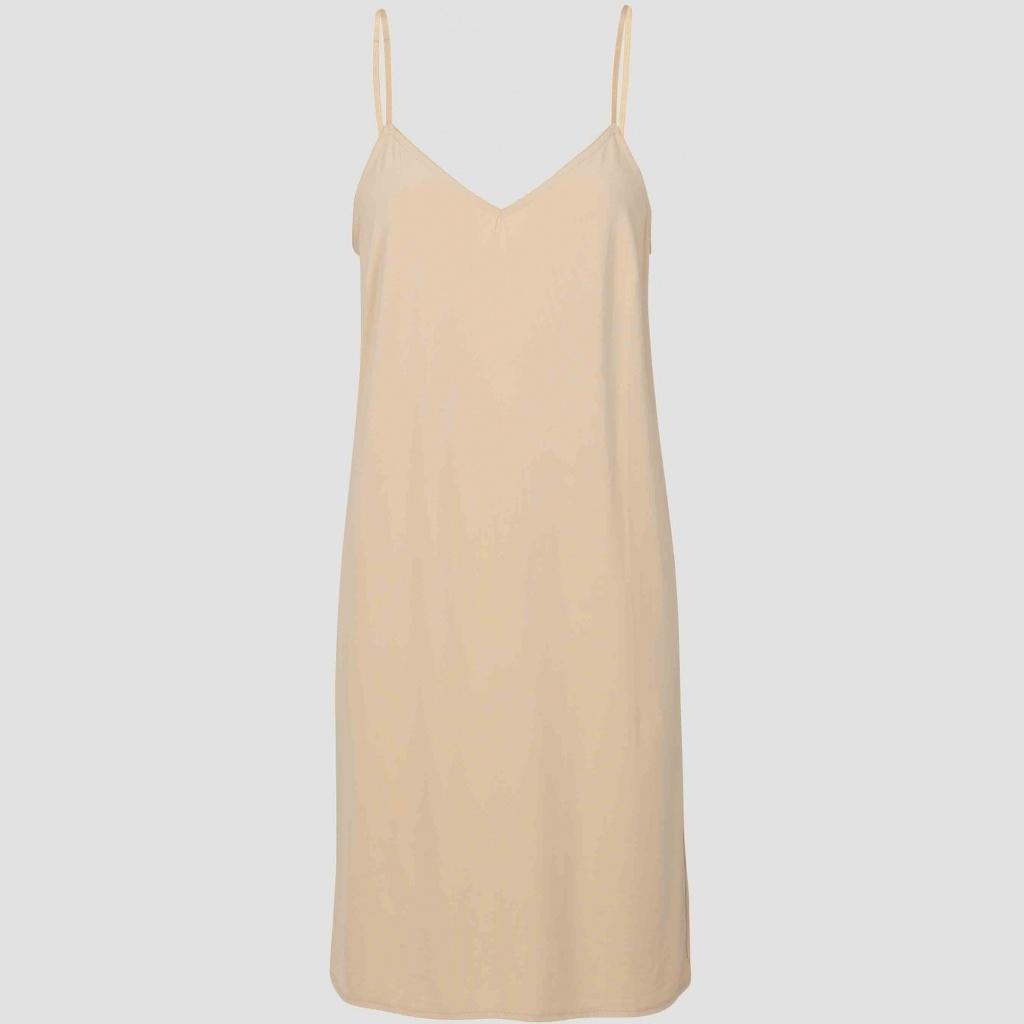 Melanie slip dress nude-1