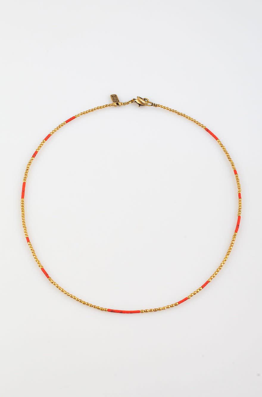 Kigali Necklace medium Coral-1