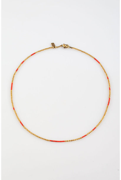 Kigali Necklace small Coral