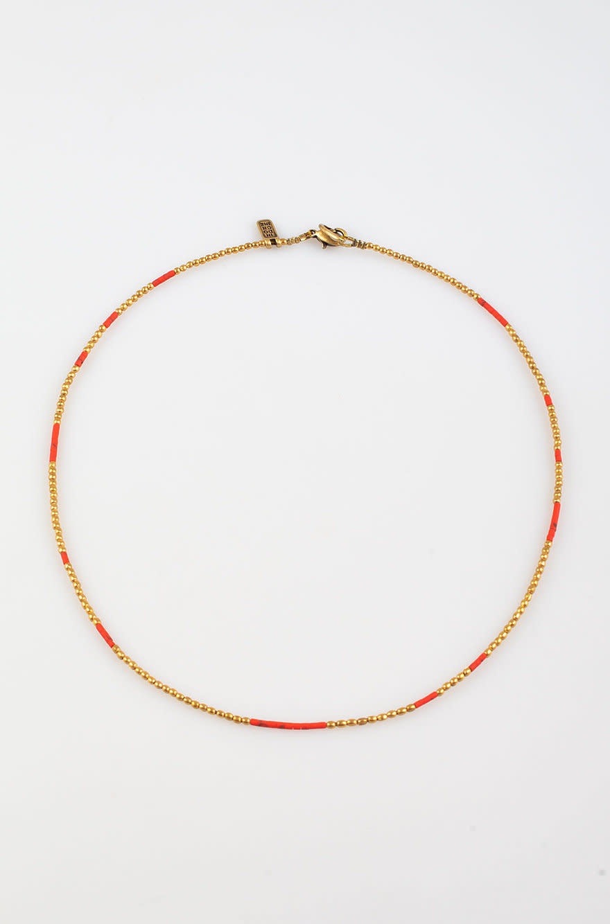 Kigali Necklace small Coral-1