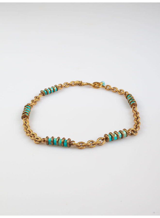 Freddo chain necklace turquoise