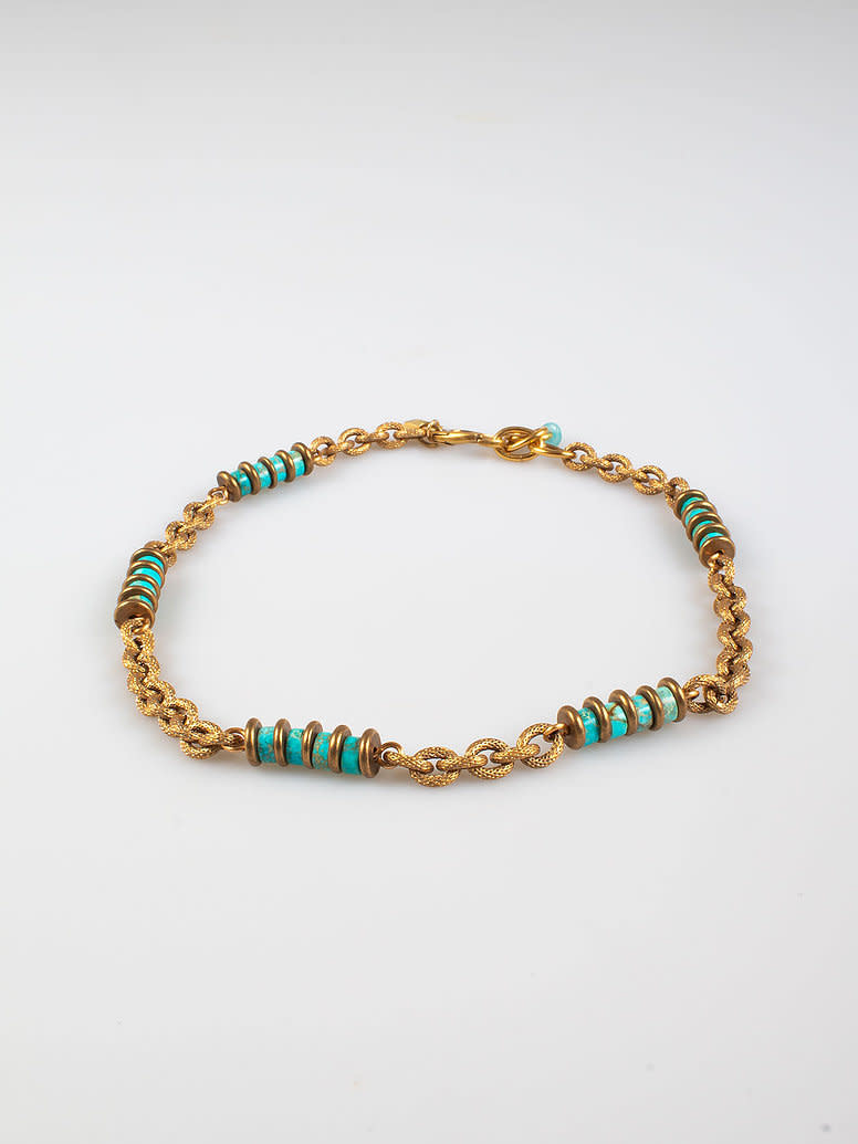 Freddo chain necklace turquoise-1