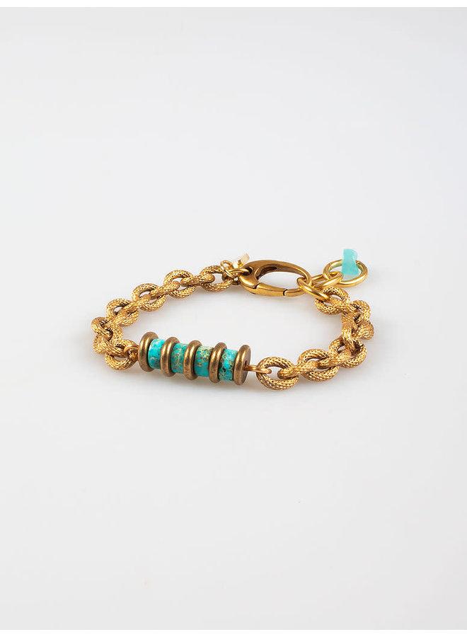 Freddo chain bracelet turquoise