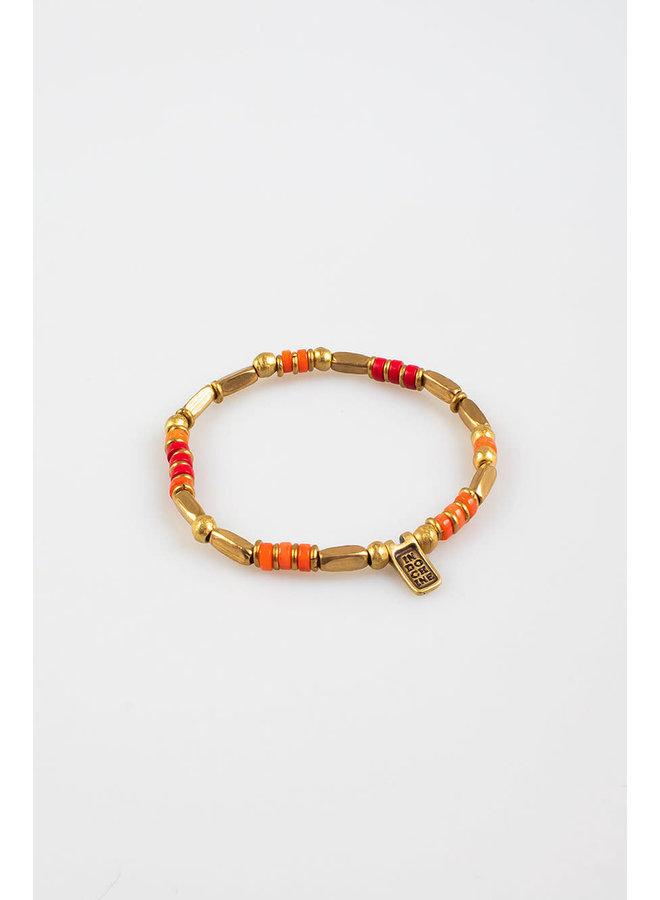kinshasa bracelet tangarine