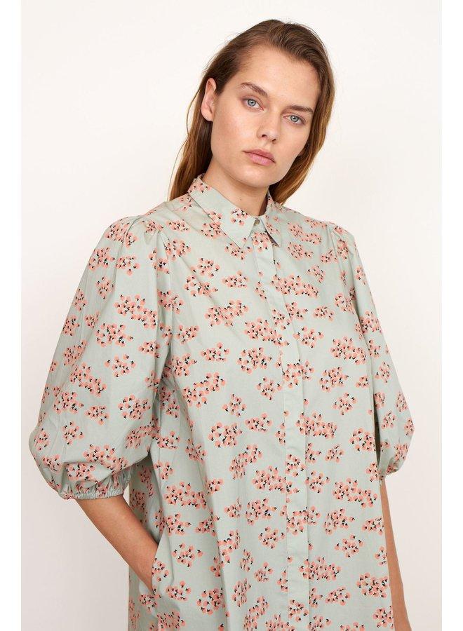 Delhi  shirt dress dessert sage