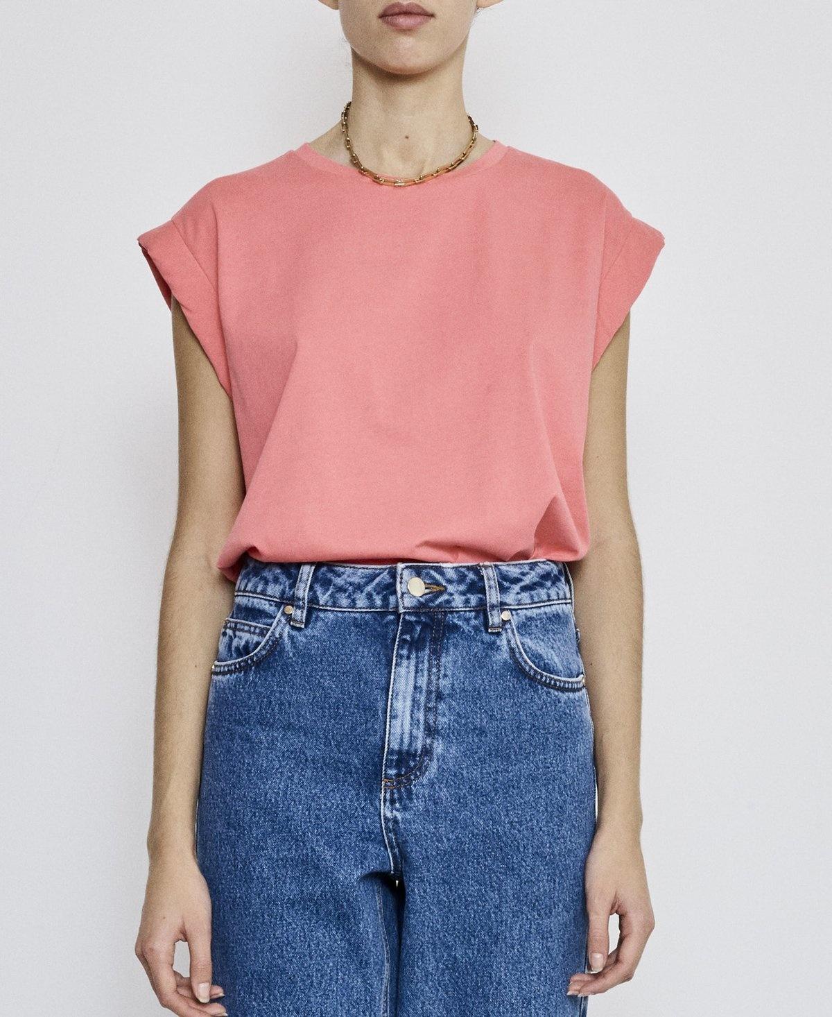 Porter T-shirt pink Fire-2