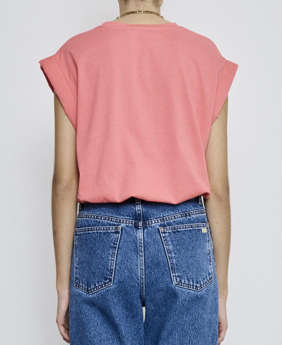 Porter T-shirt pink Fire-4