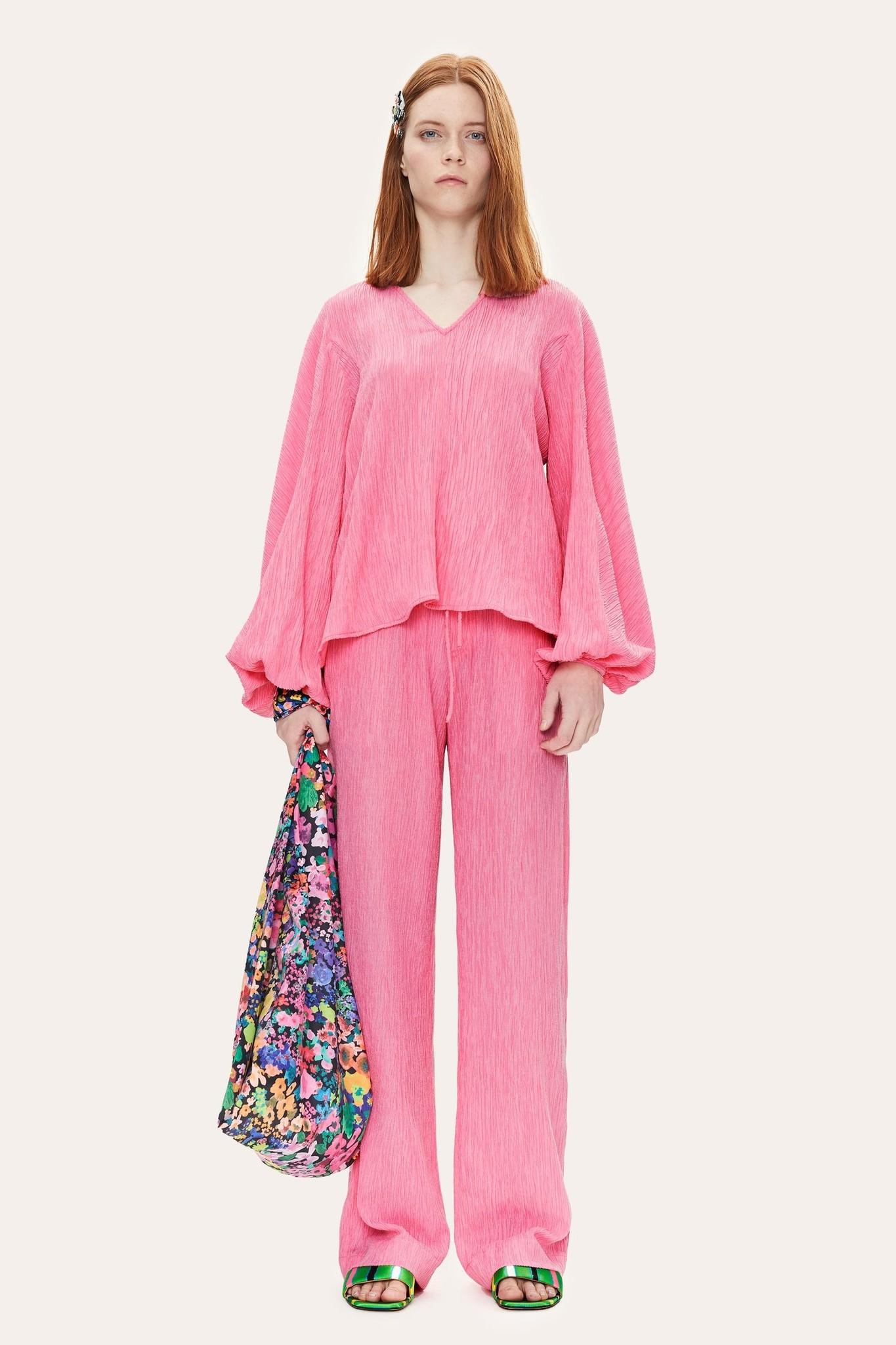 Ida Crinkled Tencel blouse Pink-3