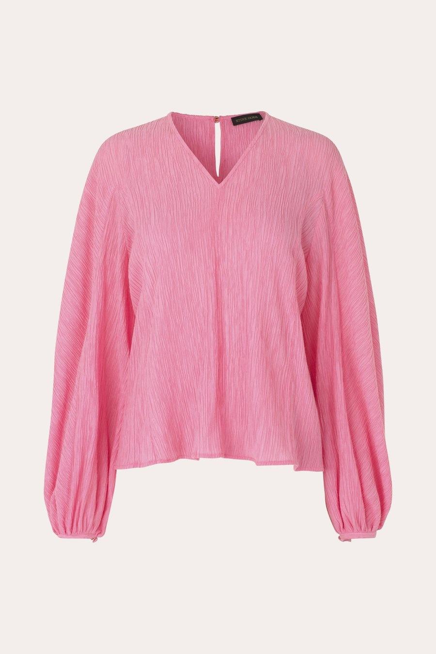 Ida Crinkled Tencel blouse Pink-1