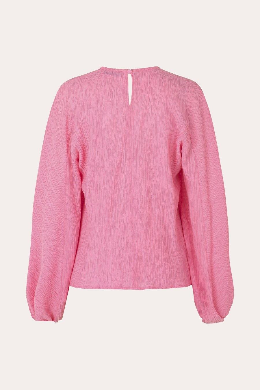 Ida Crinkled Tencel blouse Pink-2