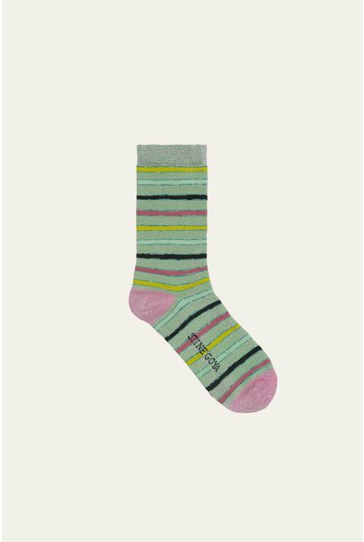 Caty socks stripes green