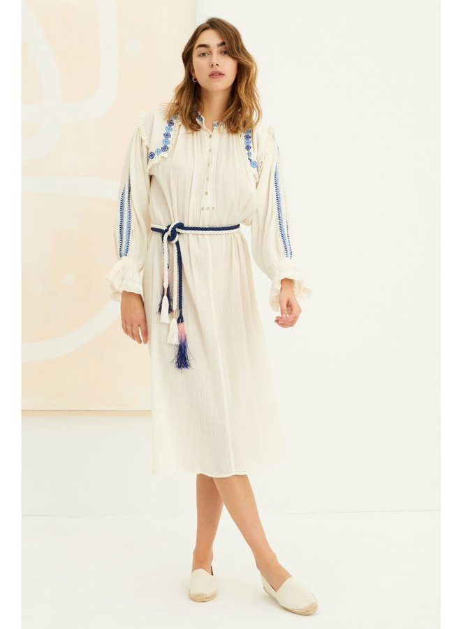 Pietro embroidered Dress white