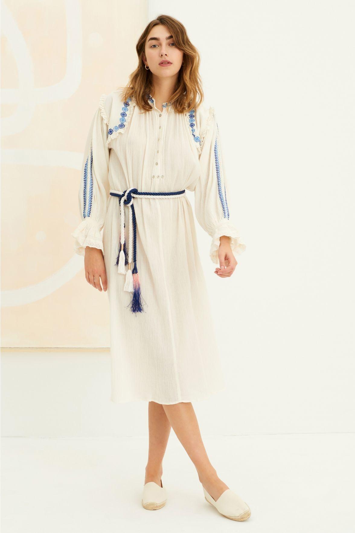 Pietro embroidered Dress white-2