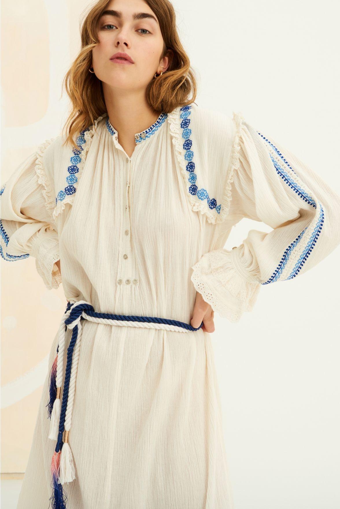 Pietro embroidered Dress white-1