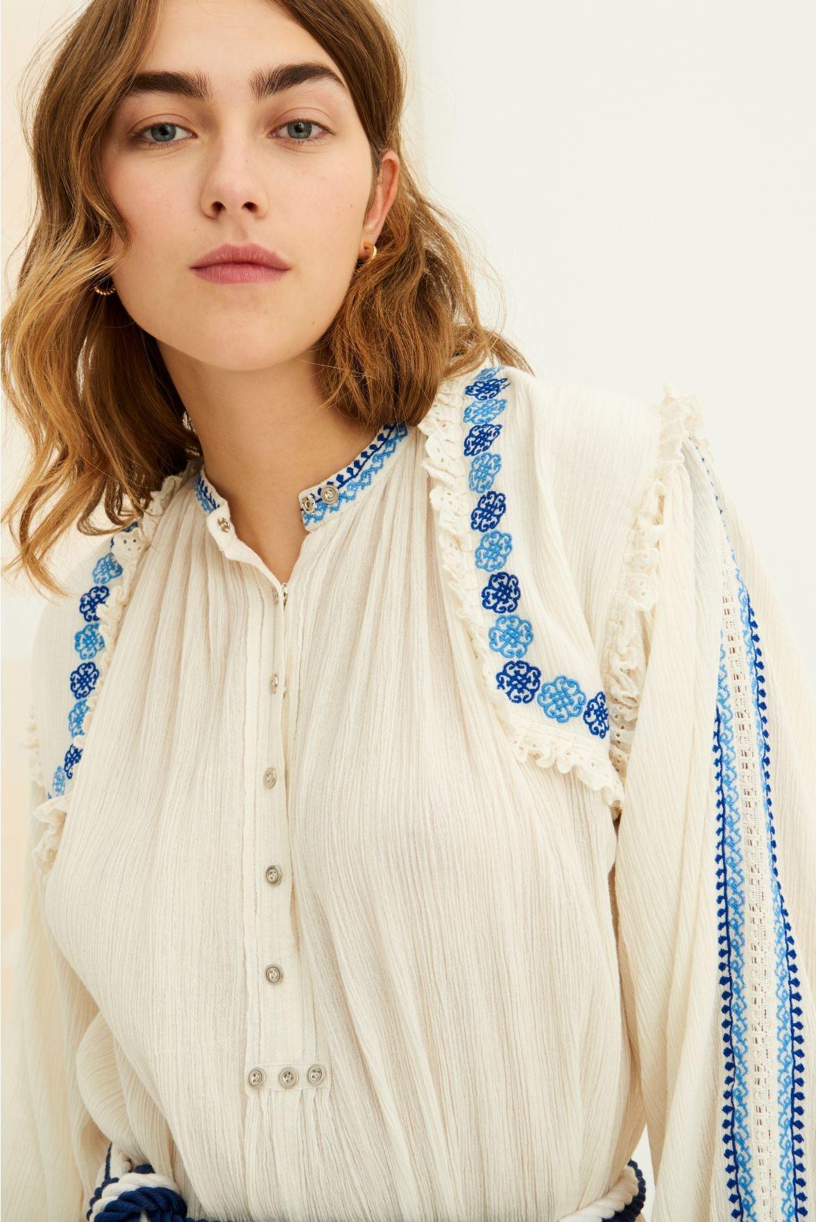 Pietro embroidered Dress white-4