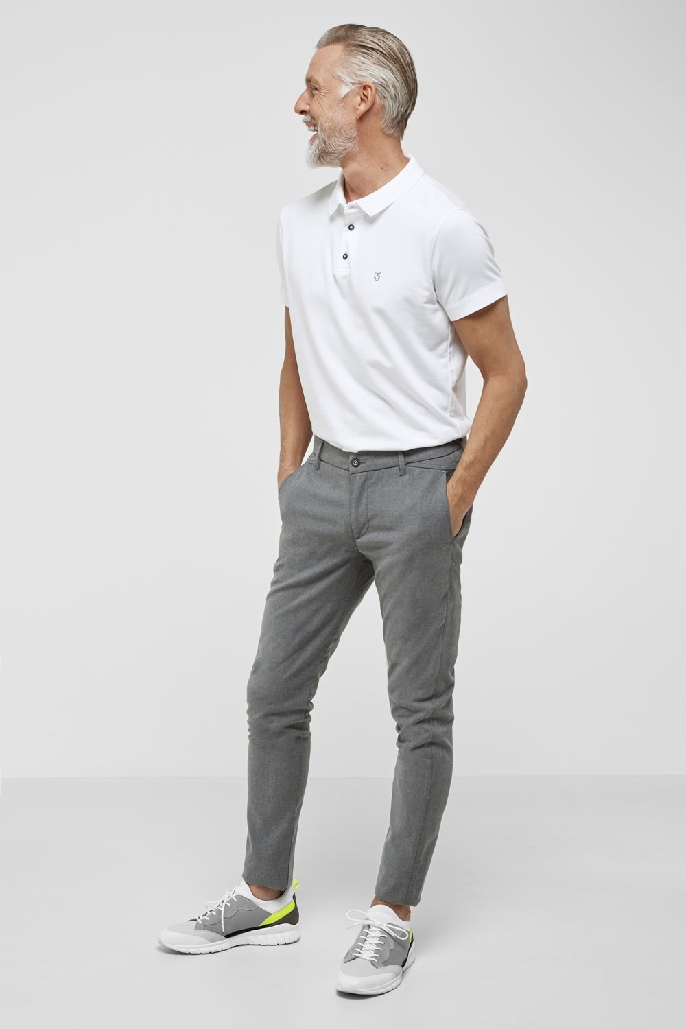 High comfort Lyocell Polo white-2