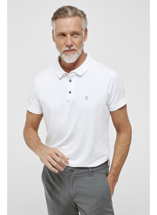High comfort Lyocell Polo white