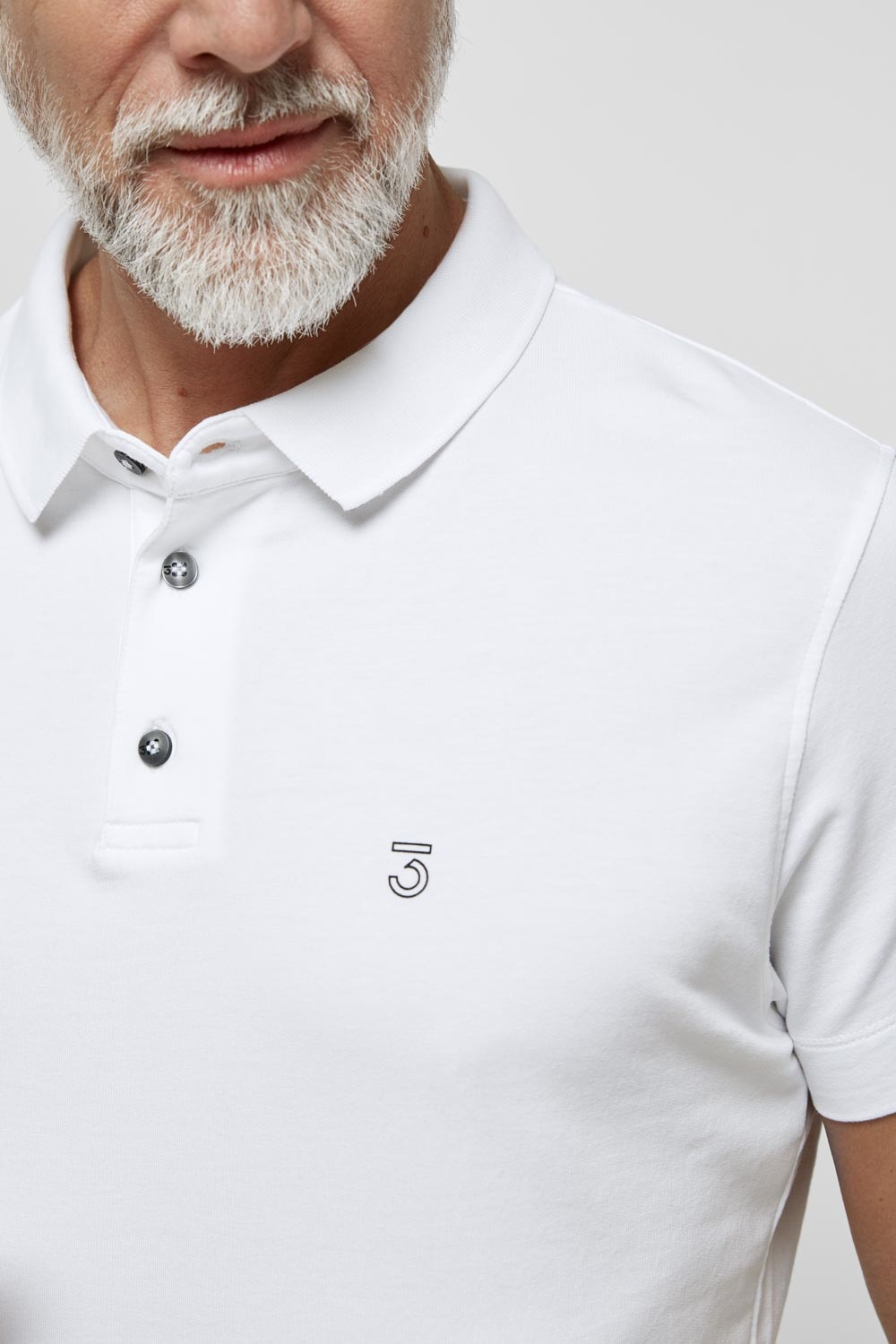 High comfort Lyocell Polo white-4