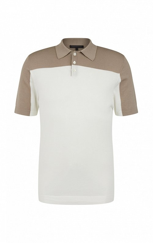 Triton knitted polo 1930 sand-1