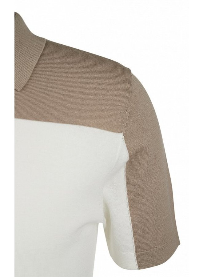 Triton knitted polo 1930 sand