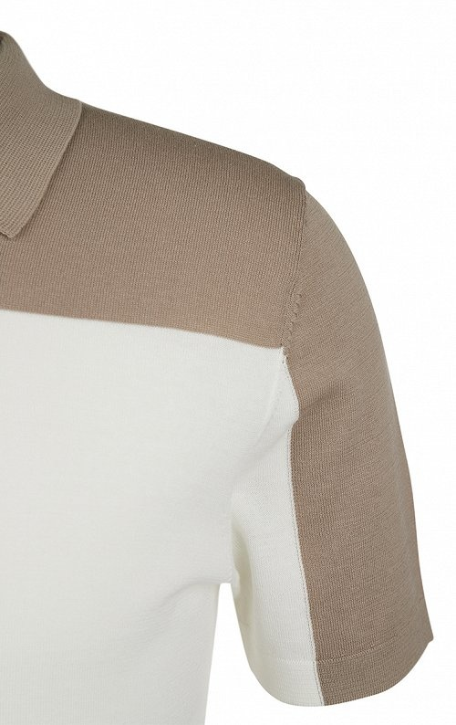 Triton knitted polo 1930 sand-2