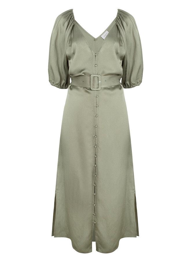 Chiara Belted dress sage green