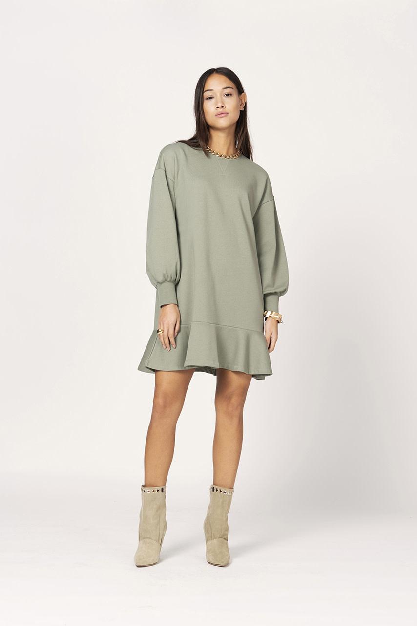 Josefine dress sage green-2