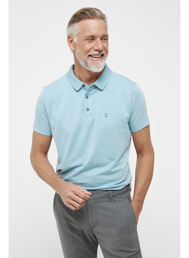High comfort Lyocell Polo pale sky