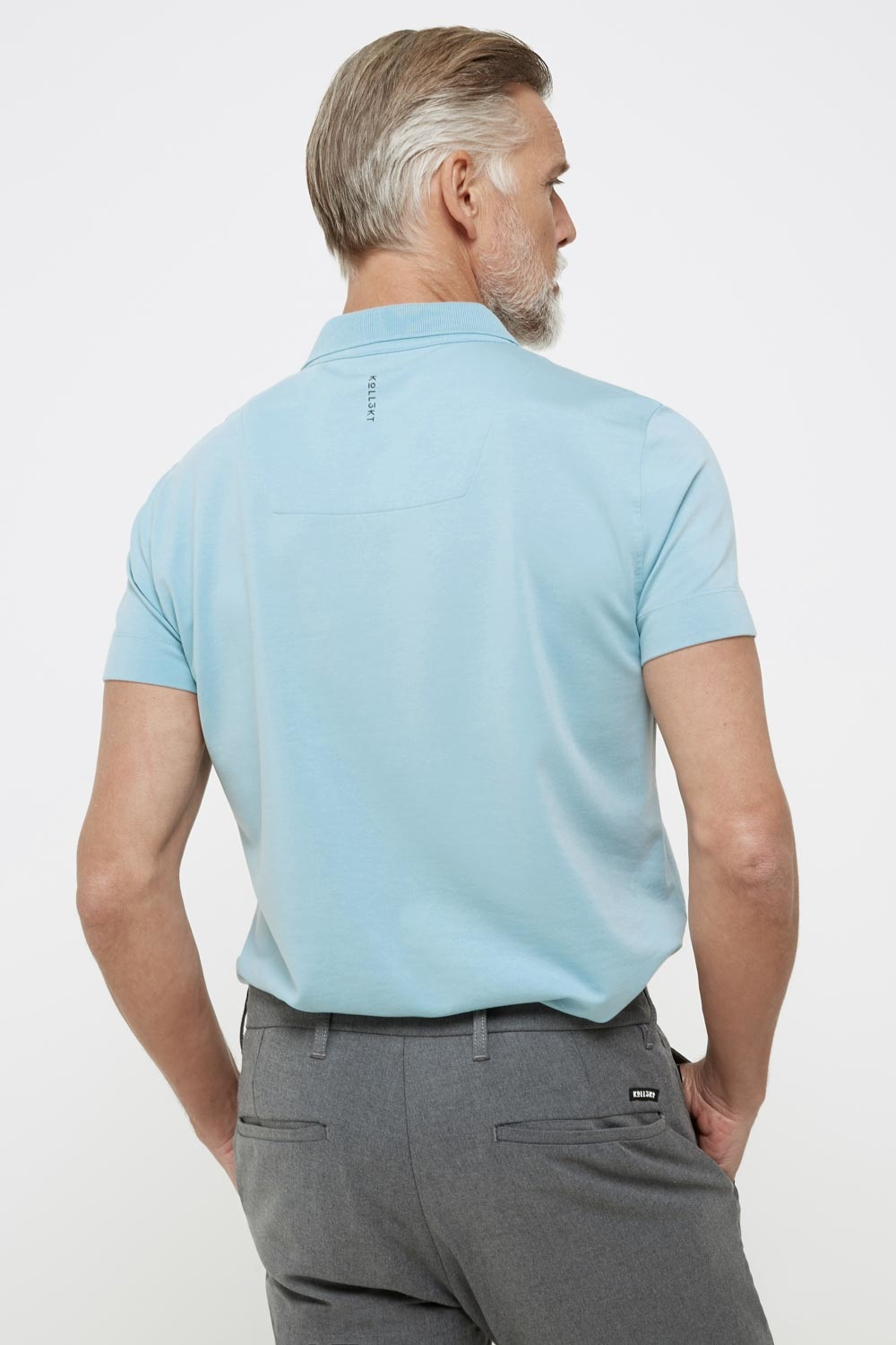 High comfort Lyocell Polo pale sky-3