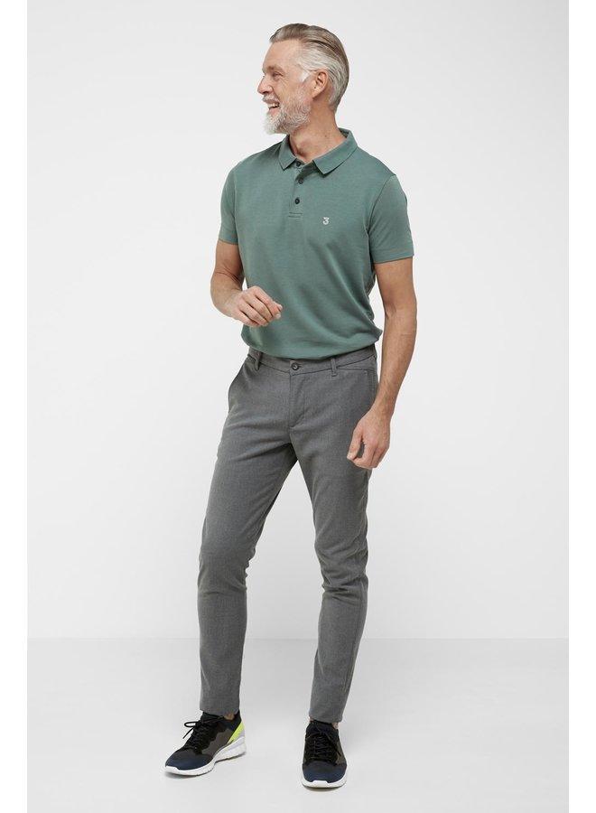 High comfort Lyocell Polo green slate