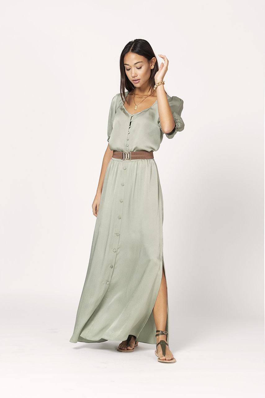 cooper long skirt sage green-2